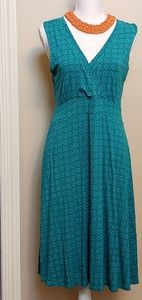 Turquoise knit dress by Lands End, size Med.